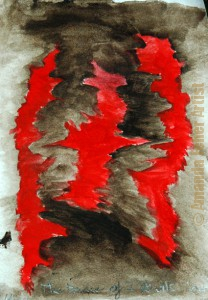 amanda_feher_painting_watercolour_the_dance_of_3_evils