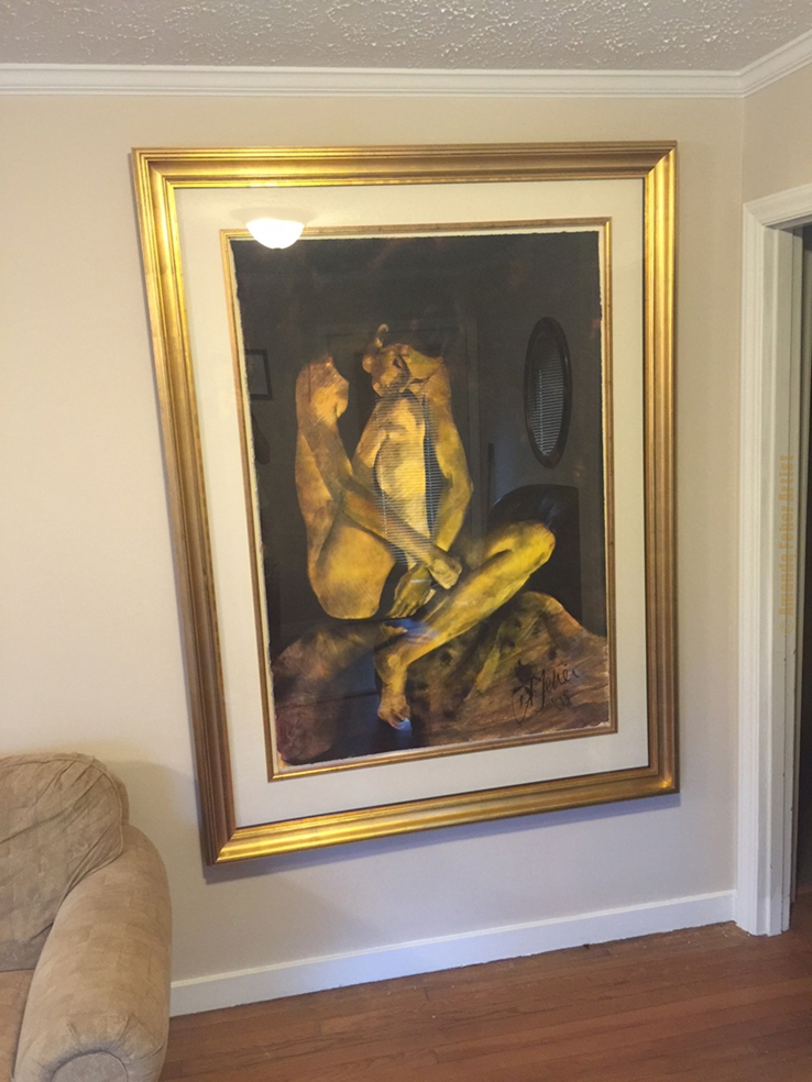 Painting in its new Home