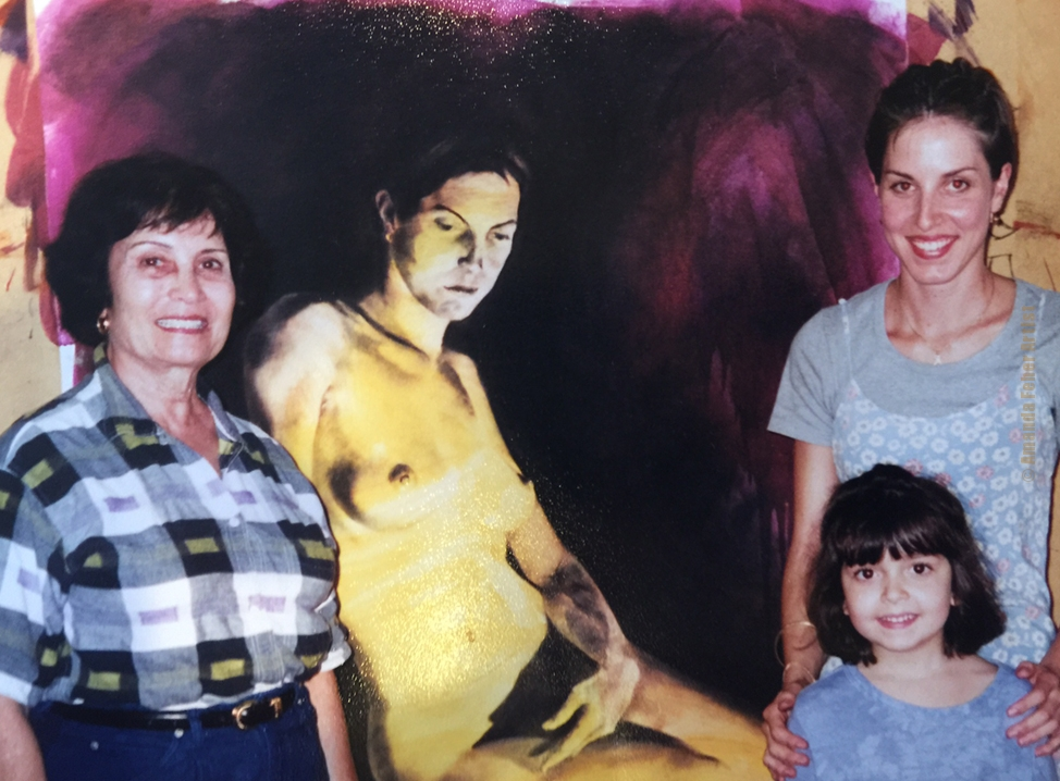 Preston's Grandmother, sister Kelsey Curd Ladt and Amanda at the studio in the late 90's