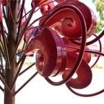 amanda_feher_sculpture_public_art_steel_painted_galvanised_Townsville_Cityl_council_Grevillea_Flower_Seats_Tavern_St