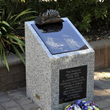 Amanda Feher Public Art Bronze Sculpture Light Horsemans hat - Townsville Grammar Memorial1